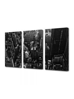 Set Tablouri Multicanvas 3 Piese Panorama New York