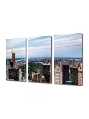 Set Tablouri Multicanvas 3 Piese Central Park New York