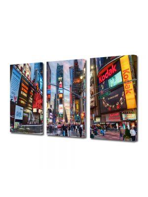 Set Tablouri Multicanvas 3 Piese Calatorind in New York