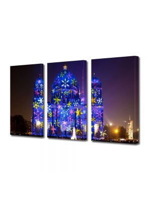 Set Tablouri Multicanvas 3 Piese Catedrala in Berlin