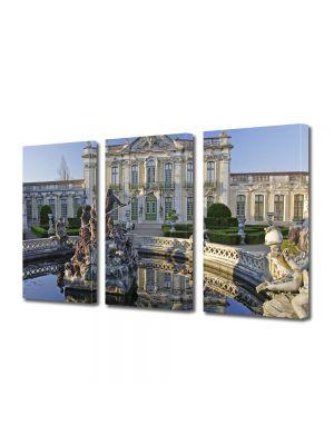 Set Tablouri Multicanvas 3 Piese Palat in Portugalia