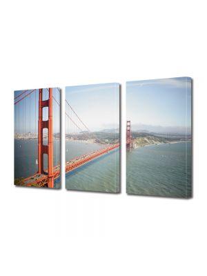 Set Tablouri Multicanvas 3 Piese Podul din San Francisco