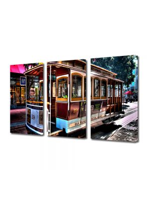 Set Tablouri Multicanvas 3 Piese In San Francisco