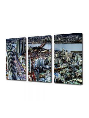 Set Tablouri Multicanvas 3 Piese Seoul Coreea de Sud