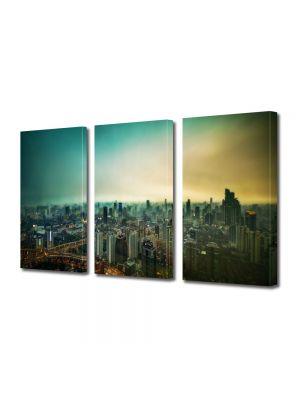 Set Tablouri Multicanvas 3 Piese Shanghai
