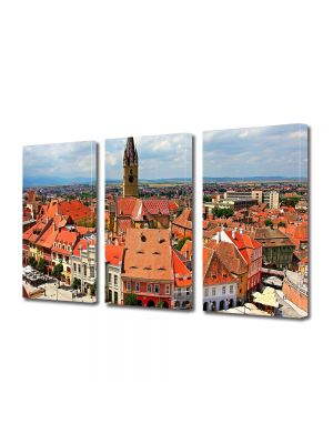 Set Tablouri Multicanvas 3 Piese Panorama Sibiu