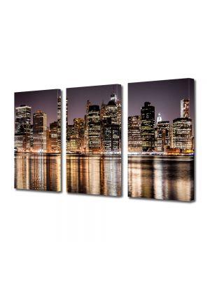 Set Tablouri Multicanvas 3 Piese Zgarie norii New york ului