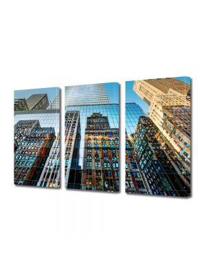 Set Tablouri Multicanvas 3 Piese Reflexie in cladiri