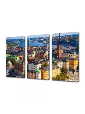 Set Tablouri Multicanvas 3 Piese Stockholm Suedia