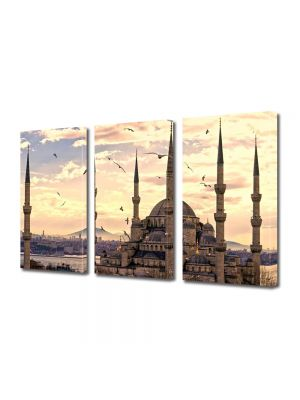 Set Tablouri Multicanvas 3 Piese Moscheea Sultan Ahmed Istanbul