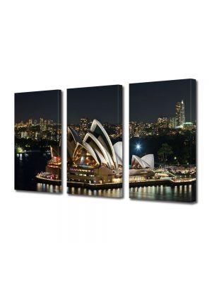 Set Tablouri Multicanvas 3 Piese Sydney Australia