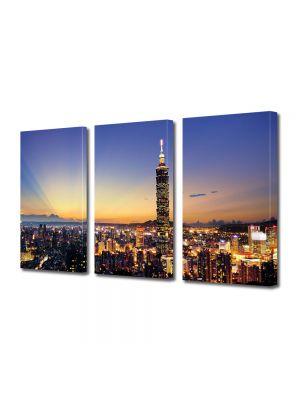 Set Tablouri Multicanvas 3 Piese Taipei
