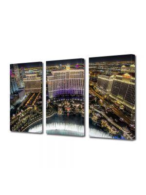 Set Tablouri Multicanvas 3 Piese Fantani la Bellagio Las Vegas