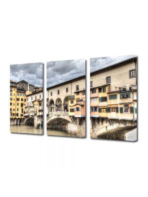 Set Tablouri Multicanvas 3 Piese florenta Italia