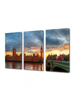 Set Tablouri Multicanvas 3 Piese Palatul Wesminster Anglia