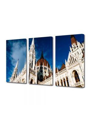 Set Tablouri Multicanvas 3 Piese Parlamentul din Budapesta Ungaria