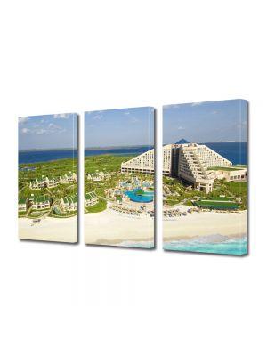 Set Tablouri Multicanvas 3 Piese Cancun Mexic