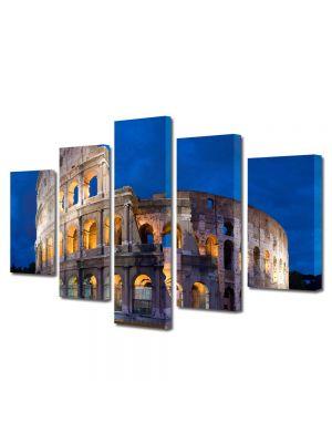Set Tablouri Multicanvas 5 Piese Colosseum Roma
