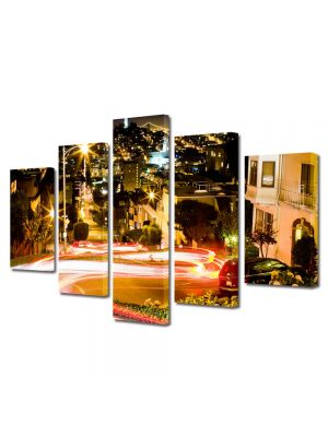 Set Tablouri Multicanvas 5 Piese Trafic