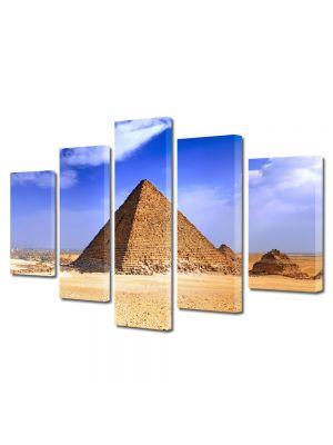 Set Tablouri Multicanvas 5 Piese Pidamida Egipt