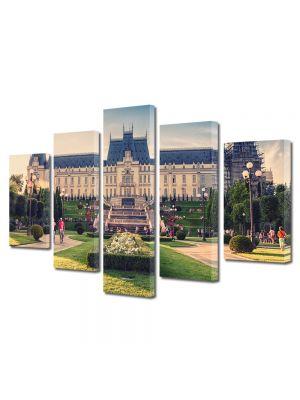 Set Tablouri Multicanvas 5 Piese Palatul Culturii din Iasi