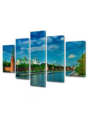 Set Tablouri Multicanvas 5 Piese Kremlin Moscova