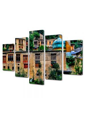 Set Tablouri Multicanvas 5 Piese Pictura urbana