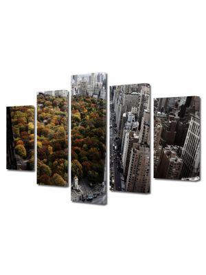 Set Tablouri Multicanvas 5 Piese Toamna in New york