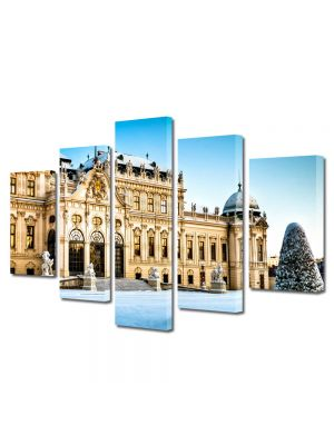 Set Tablouri Multicanvas 5 Piese Palatul Belvedere Viena Austria