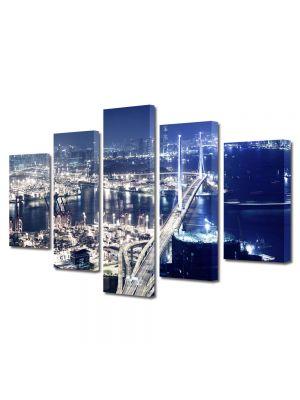 Set Tablouri Multicanvas 5 Piese Hong Kong