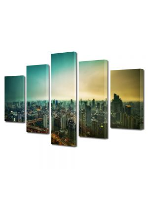 Set Tablouri Multicanvas 5 Piese Shanghai