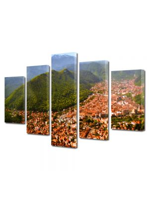Set Tablouri Multicanvas 5 Piese Brasov imagine de ansamblu
