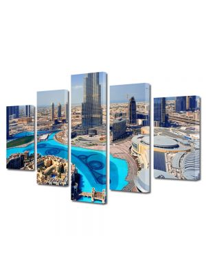 Set Tablouri Multicanvas 5 Piese Emiratele Arabe Unite