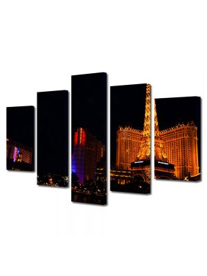 Set Tablouri Multicanvas 5 Piese Casino in Las Vegas