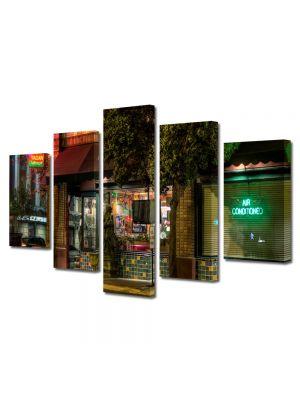 Set Tablouri Multicanvas 5 Piese Restaurant in San Diego