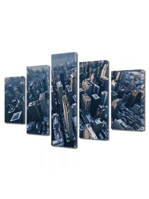 Set Tablouri Multicanvas 5 Piese Orasul New York