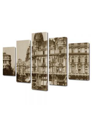 Set Tablouri Multicanvas 5 Piese Piata palatului regal Bucuresti