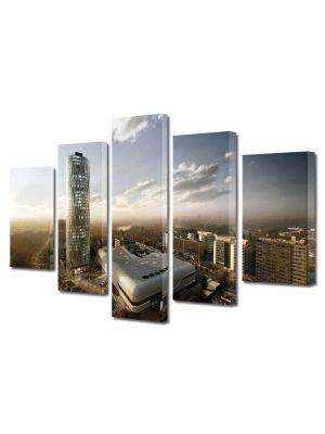 Set Tablouri Multicanvas 5 Piese Skytower Bucuresti