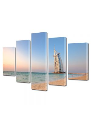 Set Tablouri Multicanvas 5 Piese Burj al Arab Dubai Emiratele Arabe Unite