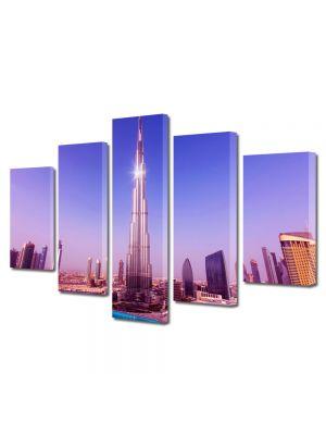 Set Tablouri Multicanvas 5 Piese Burj Khalifa Dubai