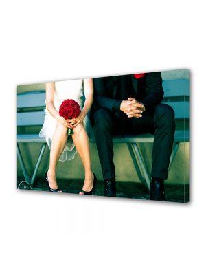 Tablou Canvas Valentine's Day Ziua indragostitilor Daruieste un buchet rosu