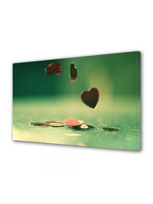 Tablou Canvas Valentine's Day Ziua indragostitilor Monede de inima