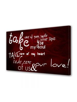 Tablou Canvas Valentine's Day Ziua indragostitilor Take care of my heart