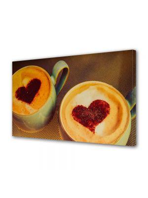 Tablou Canvas Valentine's Day Ziua indragostitilor Inimioare de cafea