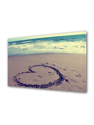 Tablou Canvas Valentine's Day Ziua indragostitilor Inima pe nisip