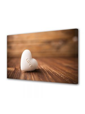Tablou Canvas Valentine's Day Ziua indragostitilor Inima alba