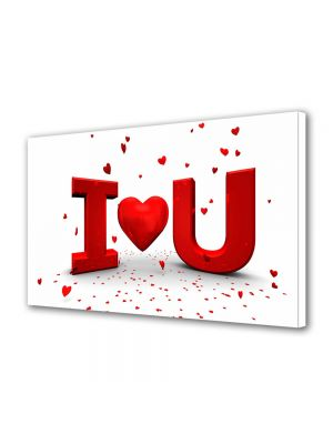 Tablou Canvas Valentine's Day Ziua indragostitilor I LOVE YOU