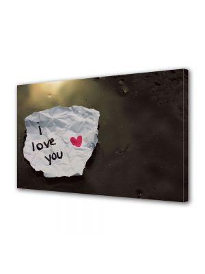 Tablou Canvas Valentine's Day Ziua indragostitilor Biletel de dragoste