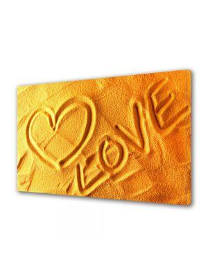 Tablou Canvas Valentine's Day Ziua indragostitilor Mesaj in nisip