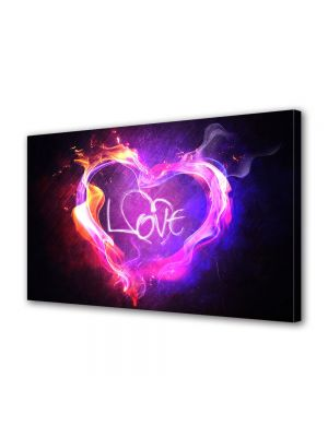 Tablou Canvas Valentine's Day Ziua indragostitilor Abstract Violet